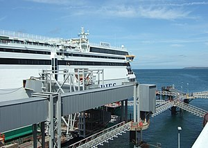 English: Holyhead ferry port Irish Ferries' Ul...