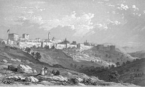 English: picture of Jerusalem from mount zion