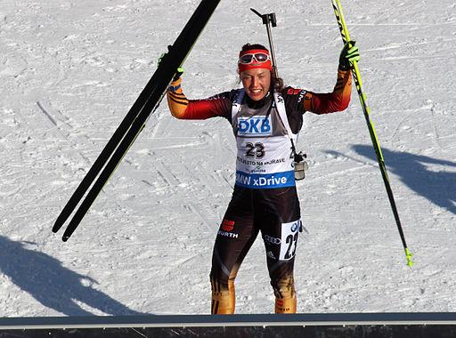 Laura Dahlmeier at Biathlon WC 2015 Nové Město