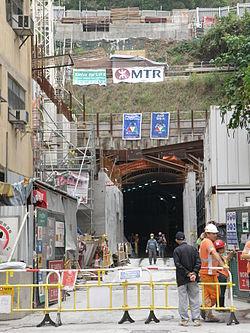 A出入口建築工地(2014年4月)