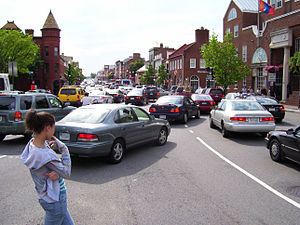 M Street in Georgetown Washington DC