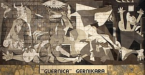 "English: Mural of the painting ""Guernica&..."