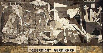 Resultado de imagen para Fotos de El cuadro Guernica