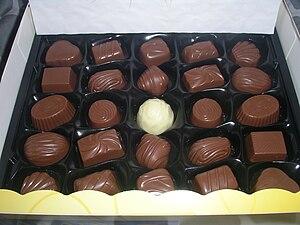 English: A swedish box of chocolates called &q...