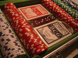 Poker set.