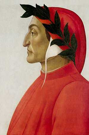 English: Dante Alighieri's portrait by Sandro ...