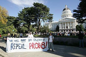 English: People upset by the passage of Propos...