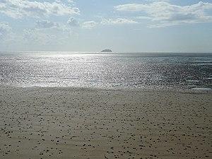 English: Sand becomes mud at Weston Bay At low...
