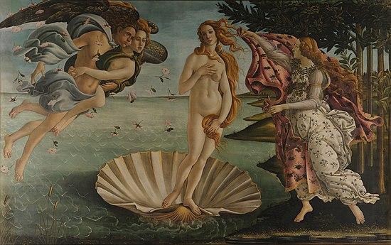 Botticelli, Sandro. Birth of Venus. c. 1482. Galleria degli Uffizi, Florence