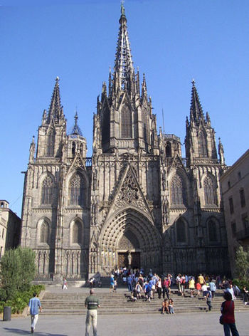 Cathedral of Barcelona before 2007 restoration...