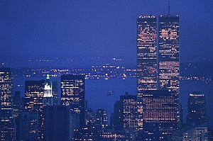 Twin Towers view from Empire State Building 86...
