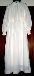 Vestido de noiva, meados da década de 70.