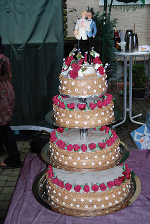 Wedding cake of a same-sex marriage, photo tak...