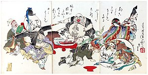 The Seven Lucky Gods, in an 1882 print by Yosh...