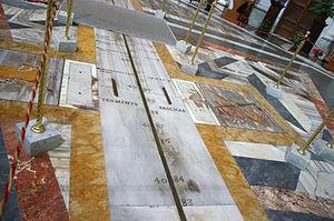 Santa Maria degli Angeli in Rome, Italy: the s...