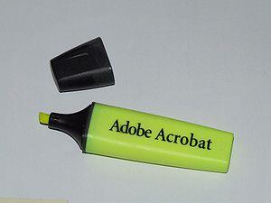 Adobe Acrobat Markierungswerkzeug
