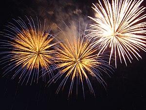 English: Bratislava; New Year 2005; FireWorks
