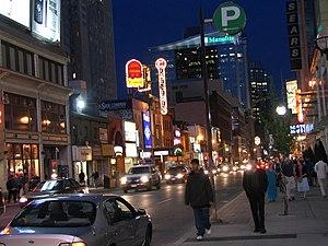 Yonge Street, Toronto, Canada. Canon Theater l...
