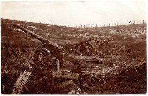 French long gun battery overrun at Verdun (alternate view)