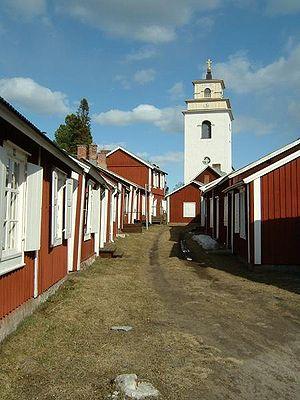 Small street in Gammelstad, Luleå, Sweden (Wor...