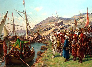 Mehmed II at the siege of Constantinople