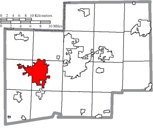 Location of Massillon in Stark County
