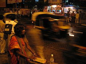Outside Borivali station, Mumbai, India
