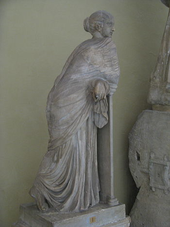Statue of Polyhymnia (?) in Museums in the Vat...