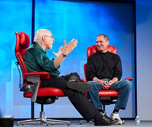 Steve Jobs and Walt Mossberg at the All Things...