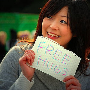 English: The Free Hugs Campaign in Tokyo