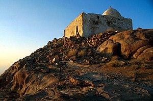 English: Mosque at the top of Djebel Haroun (A...