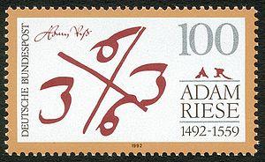 Adam Riese (1492–1559), mathématicien allemand