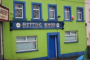 English: Betting Shop, Upper Square, Castlewel...