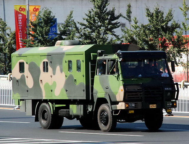 Chinese military truck during China's 60th anniversary parade