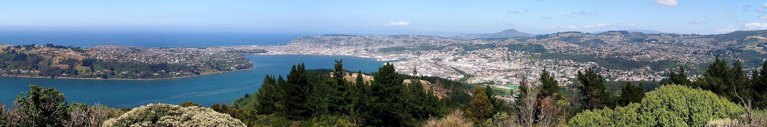 Dunedin pano from signal hillCC BY-SA 3.0 Deanpemberton