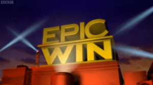 English: Epic Win title card.