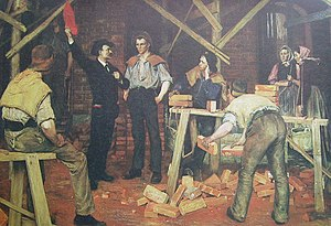 "English: Picture of painting ""Agitation&q..."