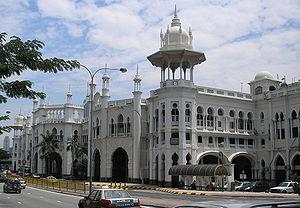 The frontal facade of the Kuala Lumpur railway...
