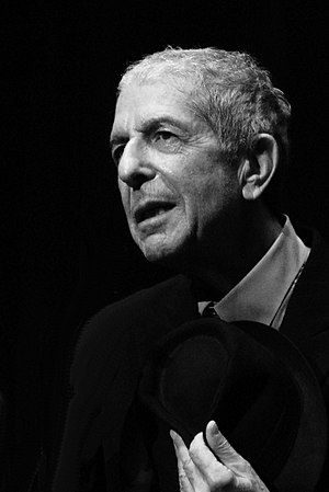 English: Leonard Cohen, during the Geneva conc...