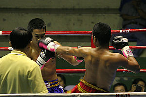 English: Boxing match in Bangkok,Thailand. htt...