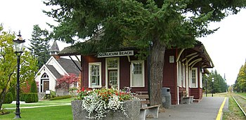Image of E&N (Via) railway station, Qualicum B...