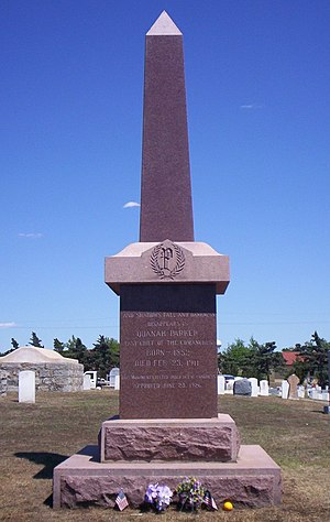 English: Gravestone of Quanah Parker located a...