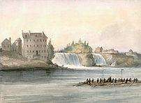 Rideau Falls at Bytown, Canada West