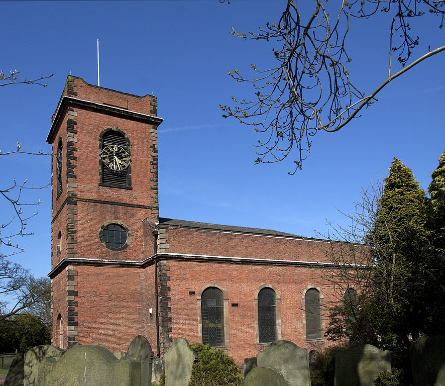 Smethwick Old Church, West Midlands, seen from the southwest.