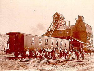 Coal-mining facility at Thurber, Texas