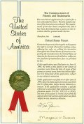 English: United States Patent Cover from a rea...