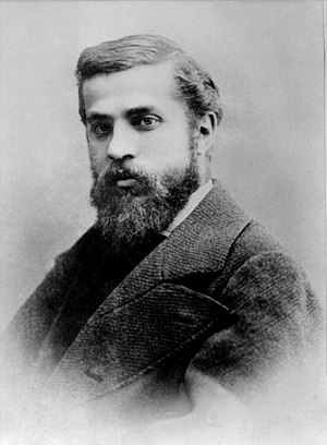 Portrait photograph of Antoni Placid Gaudí i C...