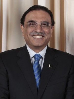 English: Asif Ali Zardari.