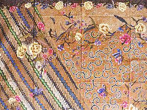 Batik Java Hokokai demonstrated Japanese influ...