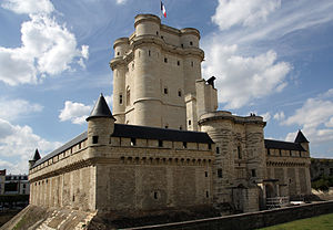 English: Chateau de Vincennes keep, Paris संस्...